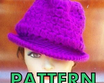 Crochet Hat Pattern Fedora Hat Pattern, Crochet Pattern Hat Womens Hat Pattern, Andy Womens Fedora Hat