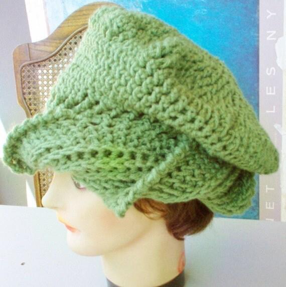 Sage Green Crochet Hat Womens Hat, Womens Crochet Hat, Crochet Beanie Hat, Sage Green Hat, Green Hat, CAROLYN Beanie Hat for Women