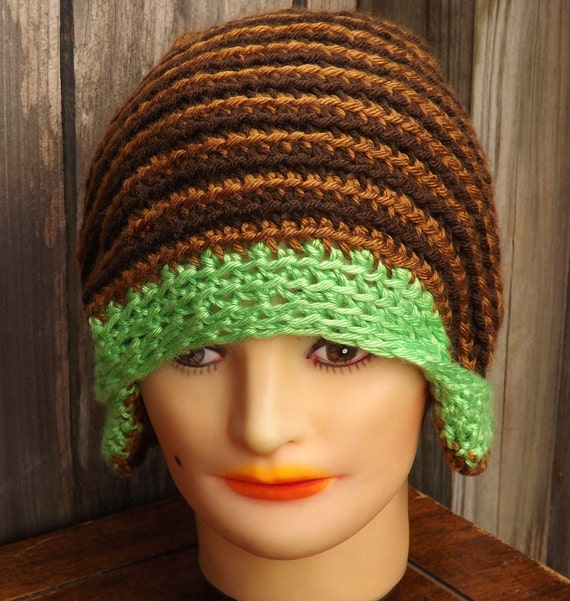 steunk hat crochet cloche hat womens by strawberrycouture