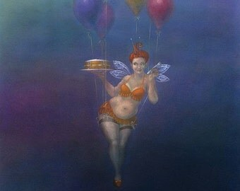 Fairy Cakes II - art print