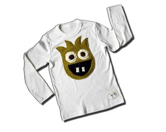 MONSTER SHIRT - Zeus the Monster Tee - Short Sleeve Onesie or Long Sleeve Onesie or Lap Tee or Toddler Tee Available