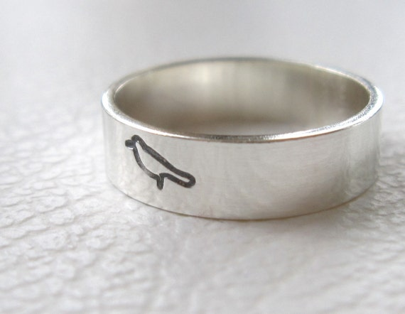 Silver Bird Ring, Animal Jewelry