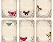 Instant Download DIGITAL ButterFlies and Text TAGS