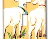 Sheeps Butt 1950's Vintage Wallpaper Switch Plate