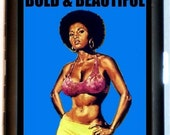 Retro African American Pinup Girl Cigarette Case Business Card Case Wallet or MP3 Holder Bold & Beautiful Pin Up Girl