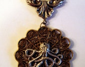 Victorian Steampunk THE ORNATE OCTOPUS Necklace Pendant New