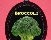 BROCCOLI Necklace Vegetarian POP Art Pendant Pendant Weird Strange Regretsy Hang this Vegetable around your Neck!