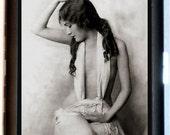 Flapper Cigarette Case Business card case Wallet or MP3 case Art Deco Roaring Twenties Great Gatsby Woman