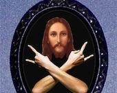 Jesus Rocks Necklace Stoner Pendant Necklace Hipster Jesus Freak New