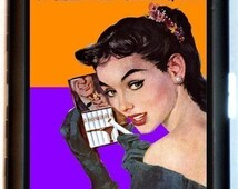 Bad Girl Pin-Up Cigarette Case I Feel a Sin Coming On Pulp Humor Retro Naughty Sexy ID Business Card Credit Card Holder Wallet