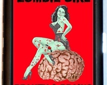 Zombie Pin-Up Cigarette Case Pin Up Girl Beauty and Brains Undead Sexy Horror Goth Zombies ID Business Card Credit Card Holder Wallet