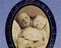 Two Headed Baby Pendant Necklace Siamese Twins Morbid Sideshow Freak Weird Sweetheartsinner Circus