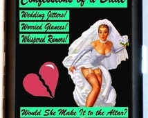 Bride Pin-Up Cigarette Case Bridal Shower Gift Funny Humor Pulp Wedding Shower Gifts ID Business Card Credit Card Holder Wallet