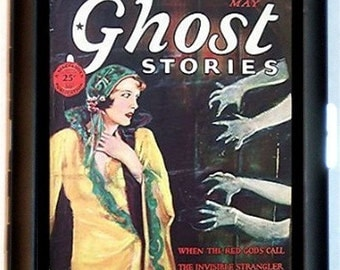 Ghost Stories Cigarette Case Business Card Case Wallet Spooky Haunted Spiritualism Spirit Ghost Dead Pulp Magazine Spiritualist