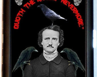 Edgar Allan Poe Three Ravens Cigarette Case Wallet Business Card Holder Kitsch
