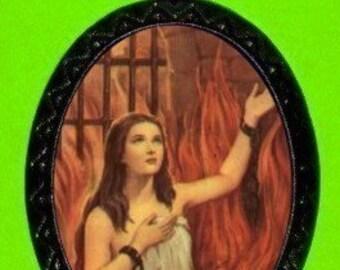 Anima Sola Necklace Purgatory Hell Catholic Guilt Goth Surreal Weird Bizarre Pendant Hellfire