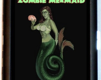 Mermaid Zombie Cigarette Case Zombies Pin-Up Girl Mermaids Horror Goth Rockabilly Nautical ID Business Card Credit Card Holder Wallet