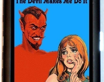 Devil Makes Me Do It Comic Satan Cigarette Case or Business Card Case Wallet NEW