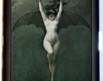 Victorian Bat Woman Cigarette Case Business Card Case Wallet Albert-Joseph Pénot