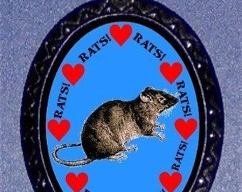 Pet Rat Lover Necklace Friendly Adorable Ratty Cuteness Boggle Baby Bruxer Pendant Rodent Necklace