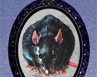 Caged Rat Necklace Rat Imagery on a Handcasted Metal Pendant NEW Pet rats Rodent