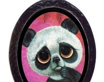 Big Eyed Panda Bear Necklace Pendant Big Eye Sad Eye Kawaii Kitsch