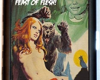 Werewolf Cigarette Case She Was a Feast of Flesh PUNK Rock Psychobilly Wallet Business Card Case Lycnathropy