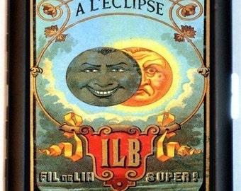 Vintage French Advertisement Moon Eclipse Cigarette Case Business Card Holder Wallet