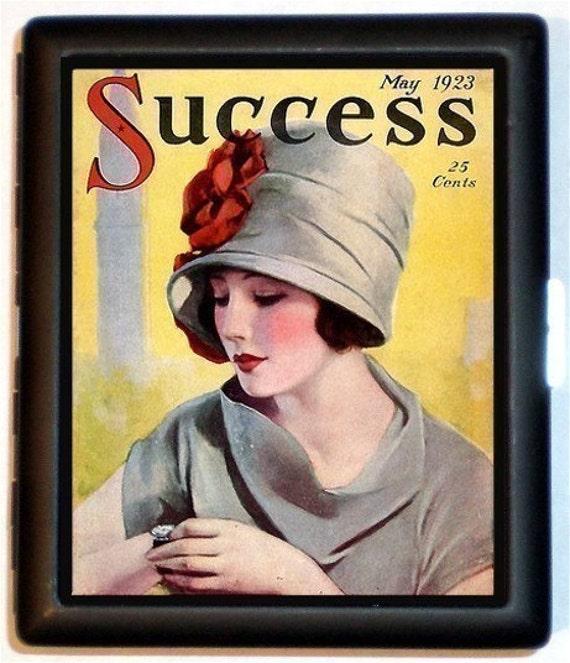 1923 Success Magazine Cigarette Case Flapper Wallet Jazz Age Business Card Case Entrepreneur Businesswoman Successful