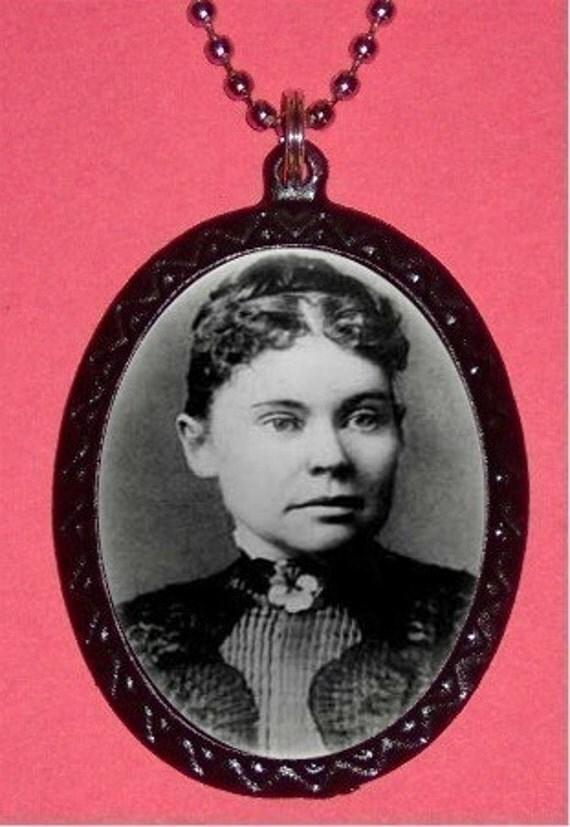 Lizzie Borden Necklace Horror Goth Psychobilly Creepy Eerie Spooky Vintage Halloween Axe Murderer