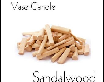 Sandalwood Vase Candle 2.8 oz Wax Melts - Highly Scented, Hand Poured Fresh, Premium Paraffin Soy Blend Wax Tarts, 25 Hour, Color Free