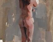 Art Print Figure Woman Classical Nude 9x12 on 11x14 - Figure Study 1 by David Lloyd - lloydgallery