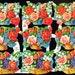 FLOWER BASKET Vintage Die Cut Sheet Made in England