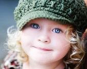 Children's Newsgirl Beanie - army green