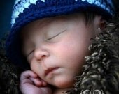 Baby Visor Beanie - navy, country blue, baby blue