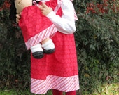 Girl and Doll Matching Pillowcase Dress - SPECIAL SALE - Red Damask - Sizes 2-5T