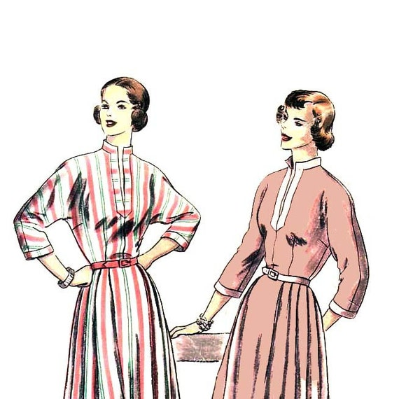 40s Kimono Sleeve Dress vintage pattern 36-28-39 SALE