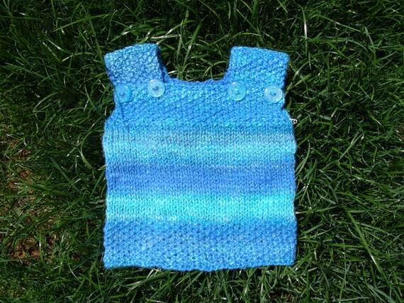 tropical sea handspun handknit baby vest