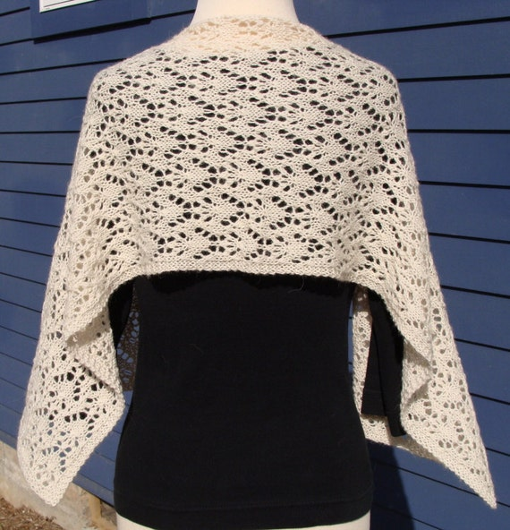 reserved listing- fairy wings handknit shimmering shawl or scarf