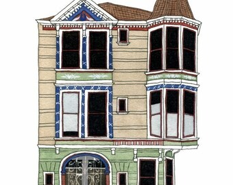 House With Turret, San Francisco - Postcard