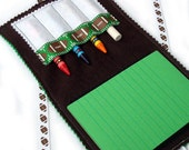 Crayon Wallet & Chalk Mat Art Folio: Football - arts and crafts coloring travel toy / travel game - Sale take 20% off