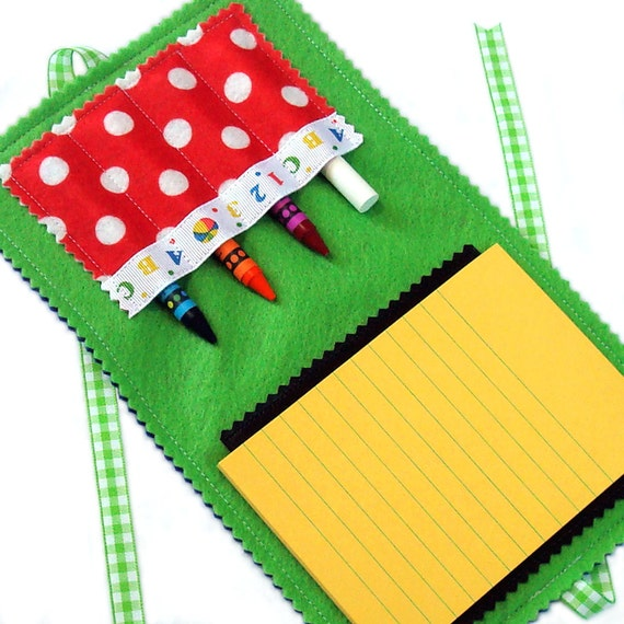 Crayon Wallet & Chalk Mat Art Folio: ABC-123 - arts and crafts coloring travel toy / travel game - take 20% off