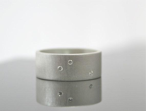 Custom for S Scattered Diamond Ring - Three Stone Ring