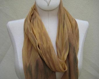 Soft Golds on Silk