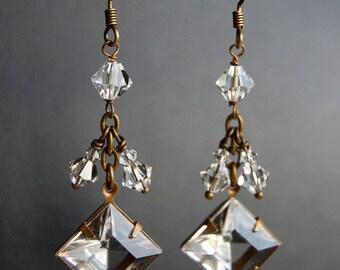 Bridal Earrings,  Vintage Inspired Wedding Jewelry, Bridal Accessories -  Dangling Darlings