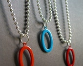 Somewhere Oval The Rainbow, A You Pick The Color Necklace