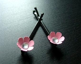 Little Pink Posies, Mini Flower Bobby Pins, Hair Accessories, Wedding Hair, Flower Girl, Hair Care, Hair Pins, Barrettes, Bridesmaid