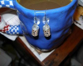 Earrings  - Vintage Pet Evaporated Milk cans, plain and simple  trashionteam, olyteam, paganteam, WWWG