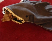 Dog Bed Blanket -- Simon The Shark -- PetCosy -- Silly Pet Sleeping Bag