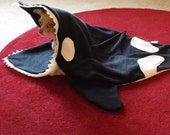 Dog Bed Blanket - Oscar The Orca - PetCosy - Silly Pet Sleeping Bag